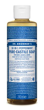Dr. Bronner's Castile Soap Peppermint 240 ml