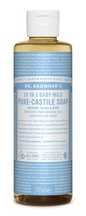 Dr. Bronner's Castile Soap Baby-Mild Neutral 240 ml