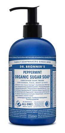 Dr. Bronner's Organic Sugar Soap Peppermint 355 ml