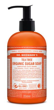 Dr. Bronner's Organic Sugar Soap Tea Tree 355 ml