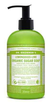 Dr. Bronner's Organic Sugar Soap Lemongrass Lime 355 ml
