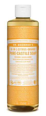 Dr. Bronner's Castile Soap Citrus-Orange 475 ml
