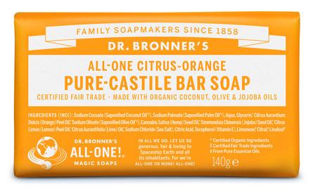 Dr. Bronner's Bar Soap Citrus-Orange