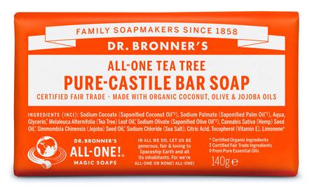 Dr. Bronner's Bar Soap Tea Tree