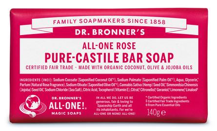 Dr. Bronner's Bar Soap Rose