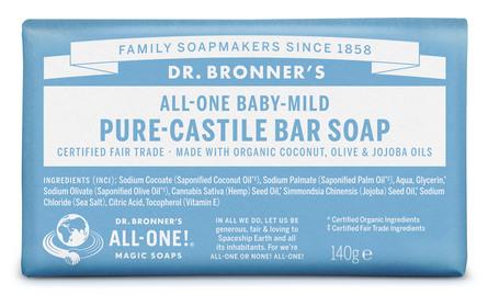 Dr. Bronner's Bar Soap Baby-Mild Neutral
