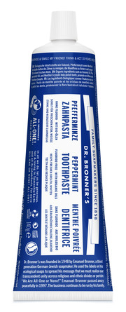 Dr. Bronner's Peppermint Toothpaste 140 g