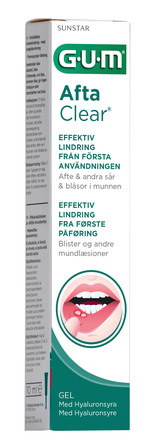 GUM AftaClear gel mod orale blister 10 ml