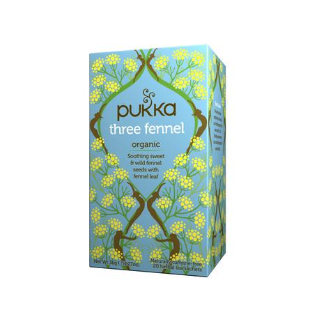 Pukka Three fennel te - øko 20 breve