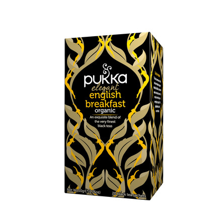 Pukka Elegant English Breakfast te - øko 20 breve
