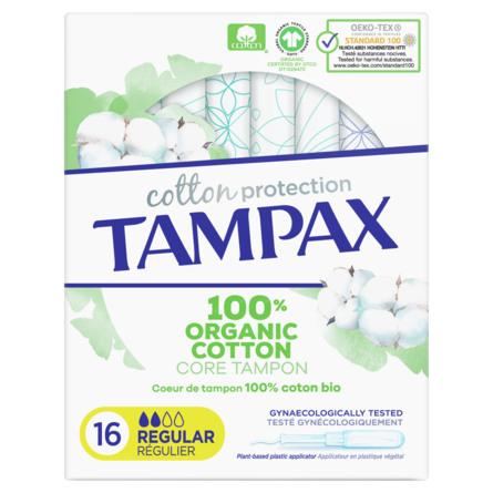 Tampax Organic Regular Tamponer 16 stk