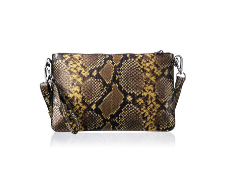 Rosemunde Clutch i Python-look Naturel Python