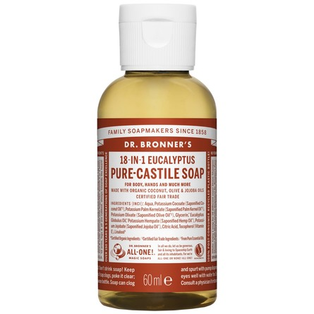 Dr. Bronner's Castile Soap Eucalyptus 60 ml