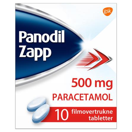 Panodil Zapp 500 mg 10 tabl.