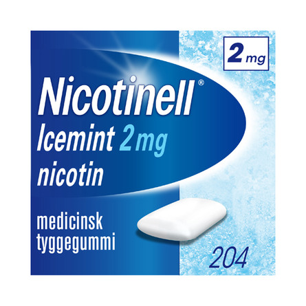 Nicotinell IceMint tyggegummi 2 mg 204 stk