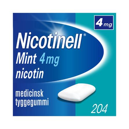 Nicotinell Mint tyggegummi 4 mg 204 stk