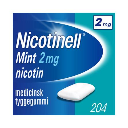 Nicotinell Mint tyggegummi 2 mg 204 stk