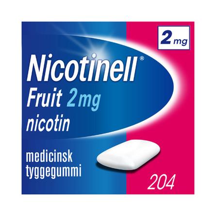 Nicotinell Fruit tyggegummi 2 mg 204 stk