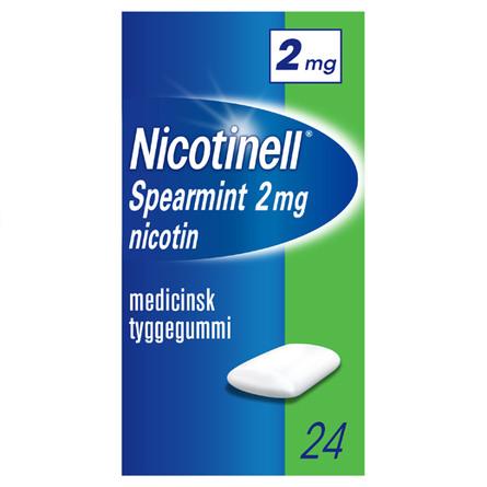 Nicotinell Spearmint tyggegummi 2 mg 24 stk