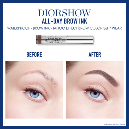 DIORSHOW ALL-DAY BROW INK TATTOO EFFECT WATERPROOF BROW COLOUR 36H* WEAR 011 LIGHT