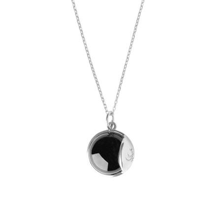 Livets Smykke Tro halskæde lang Sølv - Black Obsidian