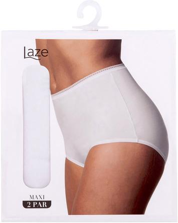 Laze Maxi Trusse 2-pak Hvid Str. XXL