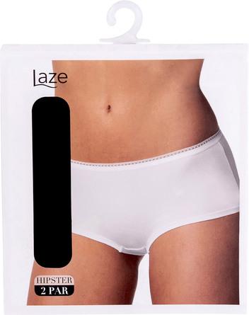 Laze Hipster 2-pak Sort Str. XXL