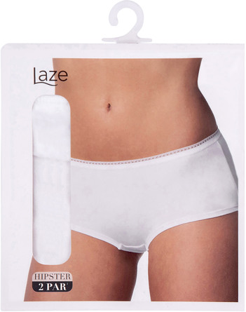 Laze Hipster 2-pak Hvid Str. XL