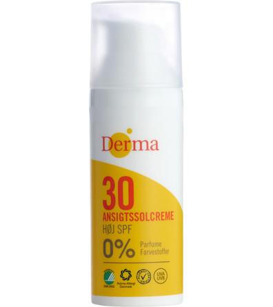 Derma Ansigtssolcreme SPF 30 50 ml
