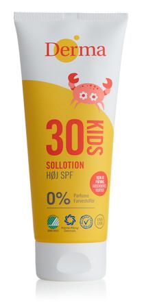 Derma Kids Sollotion Høj SPF 30 200 ml