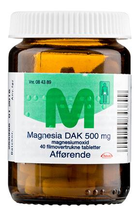 Magnesia DAK 500 mg 40 tabl