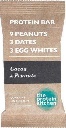 The Protein Kitchen Protein Bar Chocolate & Peanut, 55 gr.