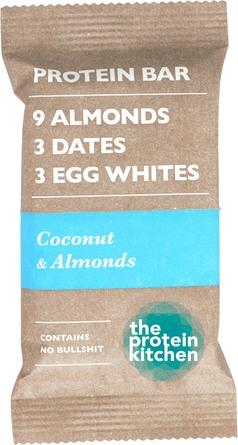 The Protein Kitchen Protein Bar Coconut & Almonds, 55 gr.