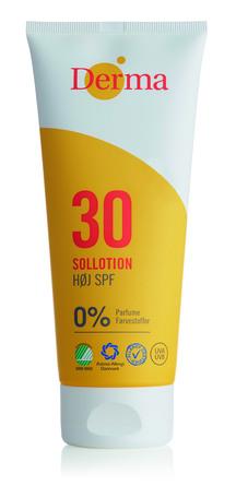 Derma Sollotion Høj SPF 30 200 ml