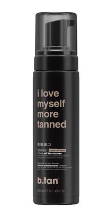 b.tan Selvbruner Mousse Tan-ye. I Love Myself More Tanned