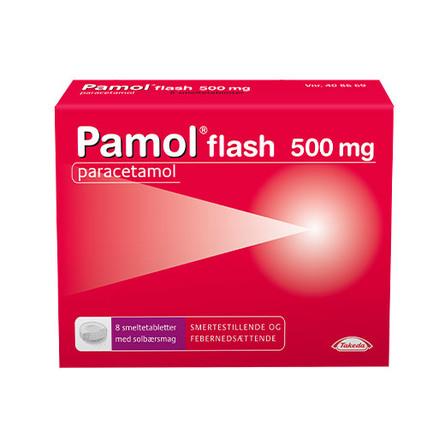 Pamol Flash 500 mg 8 smeltetabl