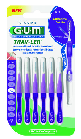 GUM TravLer - ISO 3 - PHD 1,2 mm- wire 0,6 mm Violet, 6 stk.