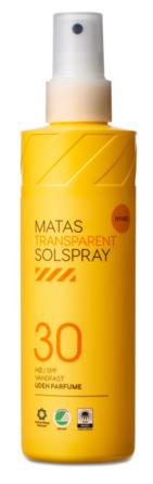 Matas Striber Transparent Solspray SPF 30 Uden Parfume 200 ml