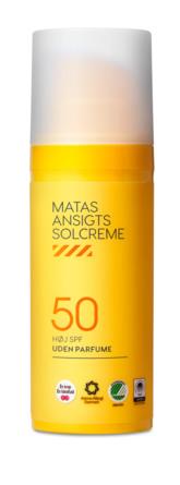 Matas Striber Ansigtssolcreme SPF 50 Uden Parfume 50 ml