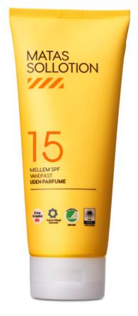 Matas Striber Sollotion SPF 15 Uden Parfume 200 ml