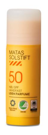 Matas Striber Solstift SPF 50 Uden Parfume 15 ml