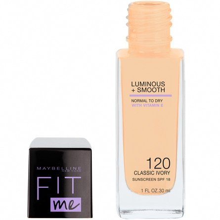 Maybelline Fit Me Luminous & Smooth Foundation 120 Classic Ivory
