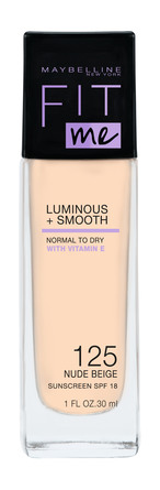 Maybelline Fit Me Luminous & Smooth Foundation 125 Nude Beige