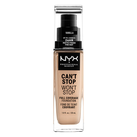 NYX PROFESSIONAL MAKEUP Can't Stop Won't Stop 24-Hours Foundation Vanilla