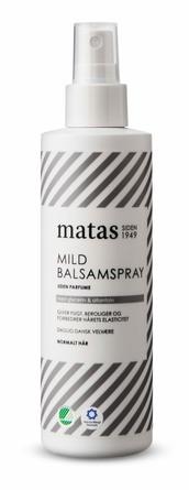 Matas Striber Mild Balsamspray til Normalt Hår Uden Parfume 200 ml
