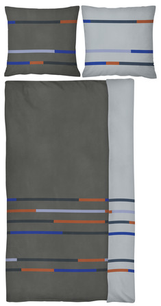 Mette Ditmer MIKADO sengetøj Grå 140 x 220 cm