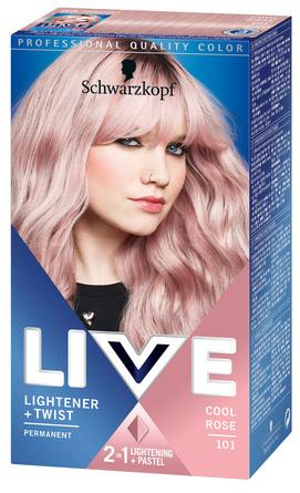 Schwarzkopf LIVE Lightener + Twist 101 Cool Rosé
