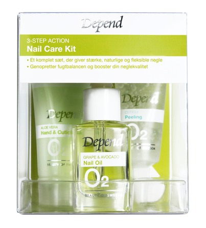 Depend O2 3-Step Action Nail Care Kit
