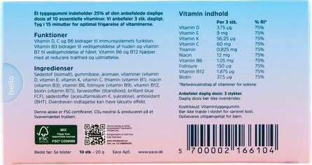 Eace Gum Eace Vitamin Gum 10 stk