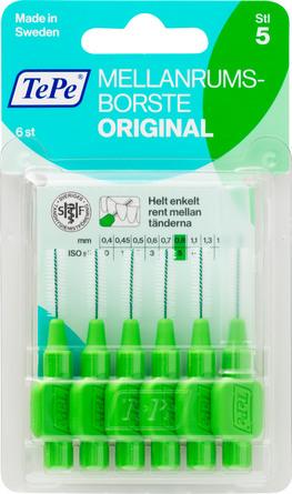 TePe Mellemrumsbørster 0,8 mm, 6 stk